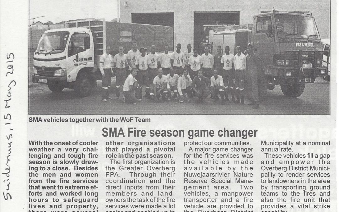 SMA Fire season game changer