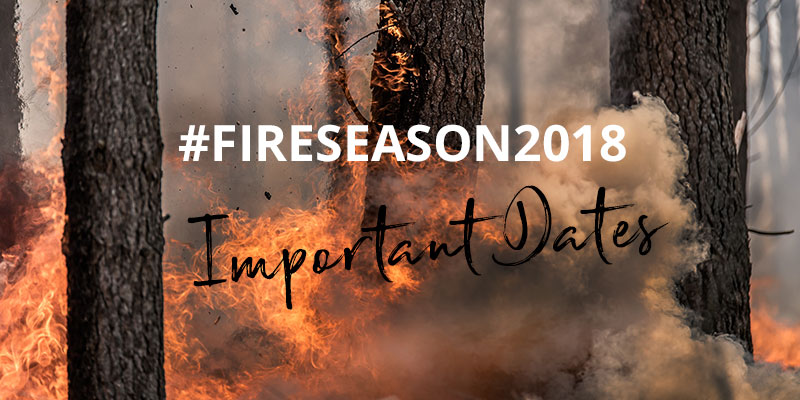 Landowners: The dates you MUST note for the 2018/2019 fire season